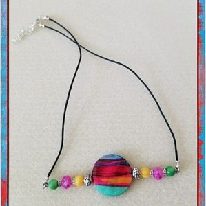 Jewelry - Colorful Shell Bead Cord Choker Necklace